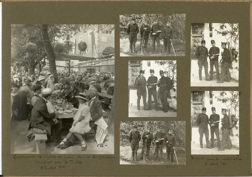 Album 1913-1914: banquet de la fête du Centenaire sur la Treille et mobilisation