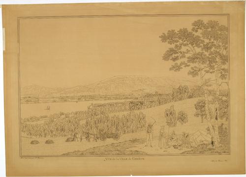 Genève, vue prise de Pregny ou de Chambésy