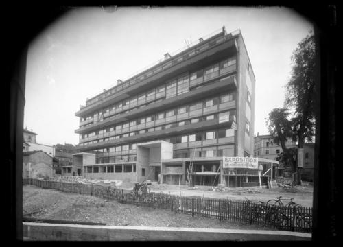 Genève, rue Saint-Laurent: immeuble Clarté. Façade nord