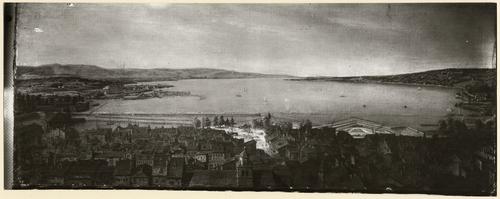 Genève et ses environs: vue panoramique depuis une maison de la rue de l'Evêché