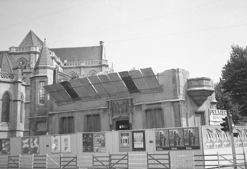 Genève, place des 22-Cantons: travaux de démolition du presbytère