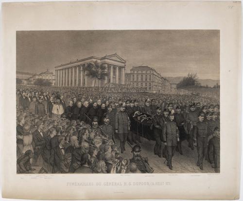 Funérailles du général Guillaume-Henri Dufour