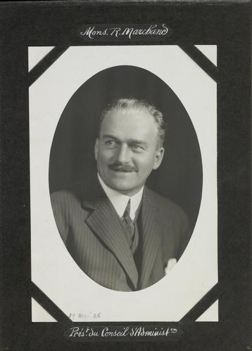 Genève, Marchand R., président du conseil d'administration du palais des expositions