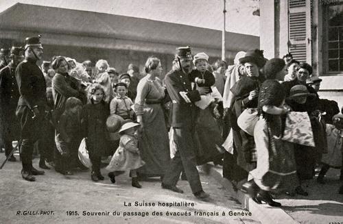 Genève, passage des évacués français
