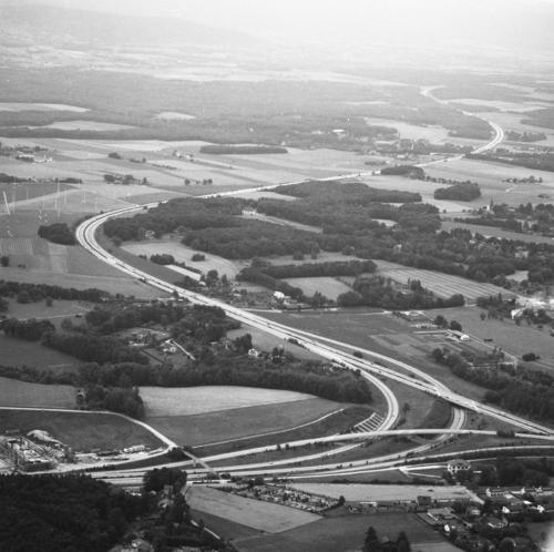 Bellevue, le Vengeron: échangeur de l'autoroute A1