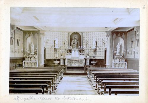 Haute-Savoie, Etrembières: pensionnat des Fidèles Compagnes de Jésus (intérieur de la chapelle du bâtiment principal)