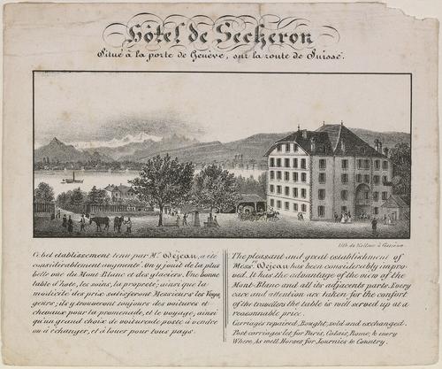 Genève, rue de Lausanne : hôtel de Sécheron (ou hôtel d'Angleterre)