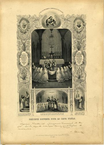 Carouge, souvenir de la communion d'Eugénie Lachenal dans la chapelle catholique romaine le 31.05.1891