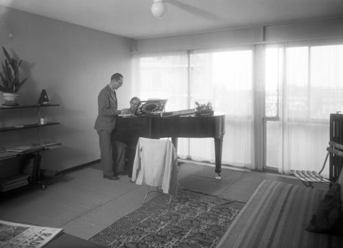 Genève, rue Saint-Laurent: Le Corbusier dans un appartement duplex de l'immeuble Clarté