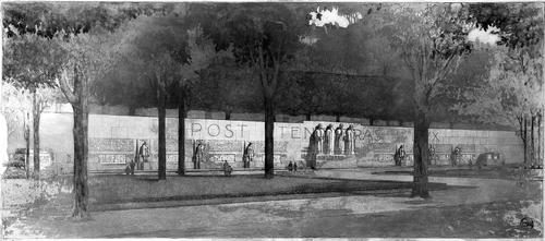 Genève, promenade des Bastions: projet du monument de la Réformation