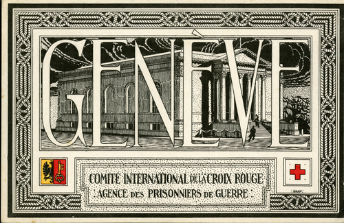 Genève, Comité international de la Croix Rouge: agence des prisonniers de guerre