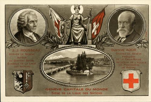 Genève capitale du monde. Siège de la ligue des Nations