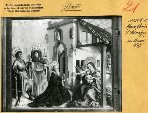 Genève, musée d'Art et d'Histoire: volet du retable de la cathérale ('Adoration des mages)