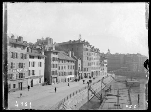 Genève, quai du Seujet (alors)