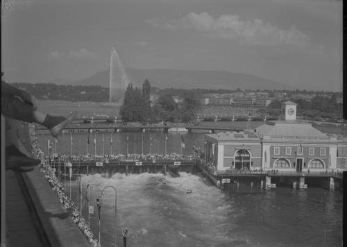 Genève, pont de la Machine: championnats du monde de canoë, slalom
