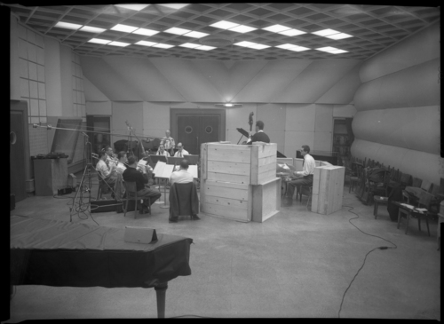 Genève, passage de la Radio: Radio Genève, studio 4, musiciens