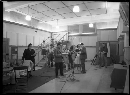 Genève, passage de la Radio: Radio Genève, studio 3, acteurs