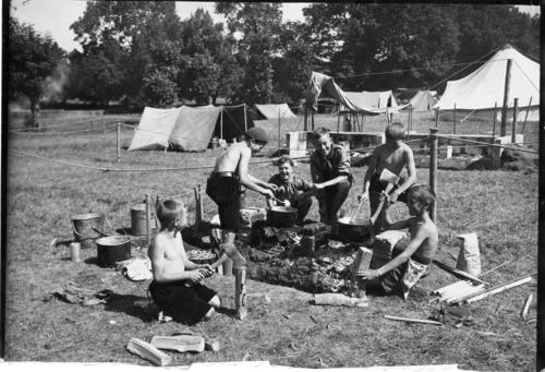 Scoutisme, deuxième camp national des éclaireurs