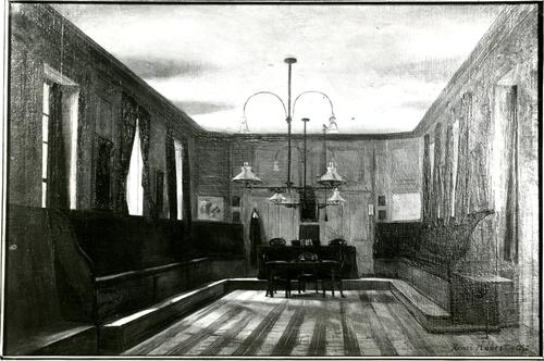 Salle de séances de l'ancien bâtiment du Consistoire