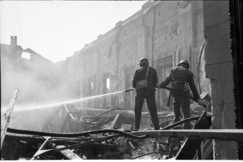 Genève, incendie du bâtiment électoral