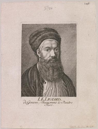 Genève, portrait de Jean-Etienne Liotard surnommé le peintre turc (avec la barbe)