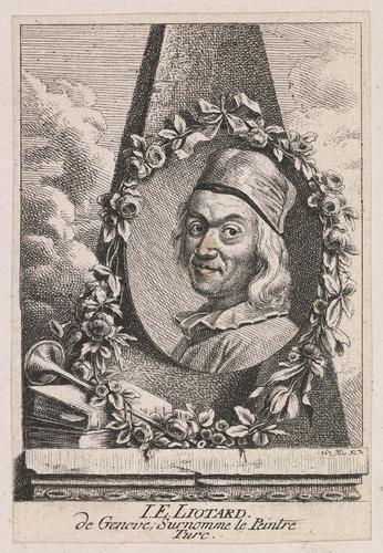 Portrait de Jean-Etienne Liotard de Genève, surnommé le peintre turc