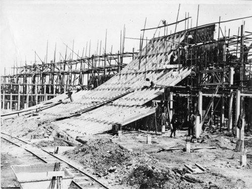Plan-les-Ouates, vélodrome en construction