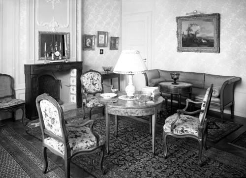 Genève, domaine du Bouchet, vue intérieure de la maison de maître: salon