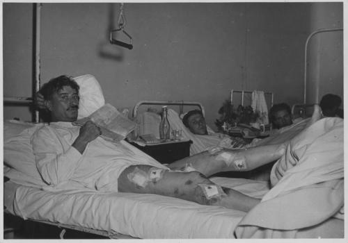 Genève, hôpital: victimes de la fusillade du 09.11.1932