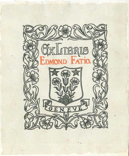 Ex-libris Edmond Fatio, Genève