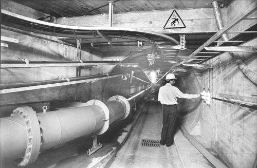 Genève, Saint-Jean: galerie technique creusée entre la station électrique de la rue du Stand et celle de Foretaille (Pregny-Chambésy)