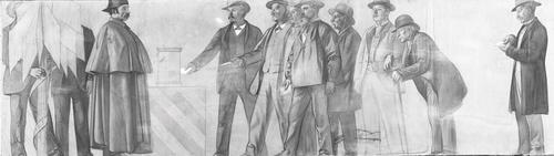 Dessin préparatoire pour le décor de l'ancien arsenal (1891-1892). 19e siècle: une votation populaire