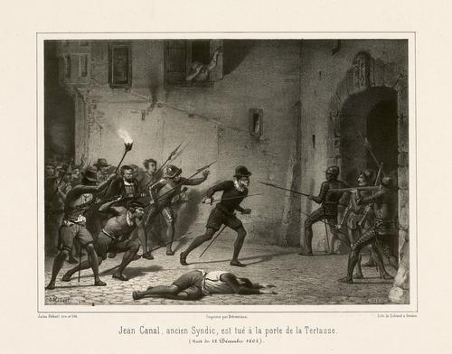 Genève, porte de la Tertasse: l'ancien syndic Jean Canal est tué lors de l'Escalade