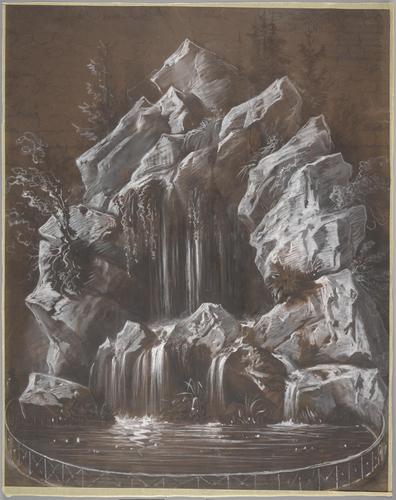 Genève, place de Neuve: projet de fontaine