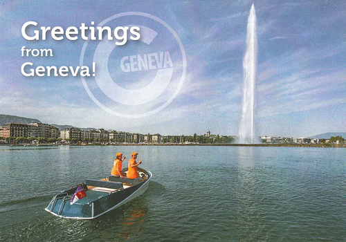 Genève, Eaux-vives: jet d'eau