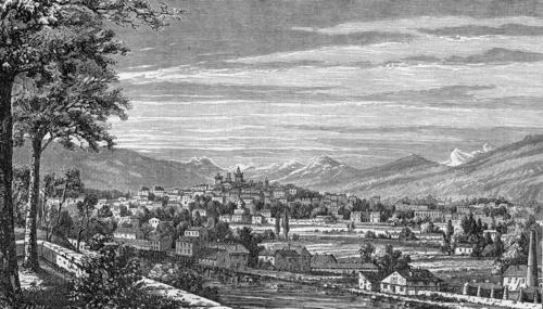 Genève, vue prise de Saint-Jean