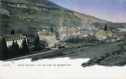 Haute-Savoie, Monnetier-Mornex: le village de Monnetier