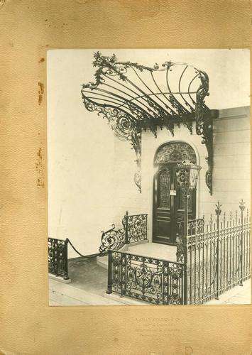 Genève, Exposition nationale: groupe 30, métaux ouvrés: portail en fer forgé