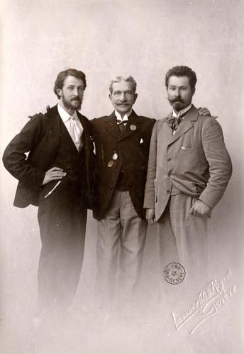 Daniel Baud-Bovy, Benjamin Archinard et Emile Jaques-Dalcroze