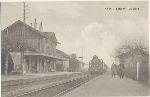Satigny, gare
