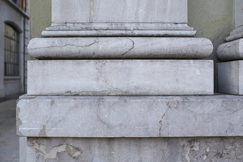 Genève, rue Necker: détail de la porte de l'ancien panorama de Plainpalais