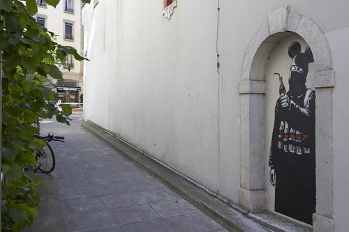 Genève, passage de la Tour: caricature d'un terroriste islamiste