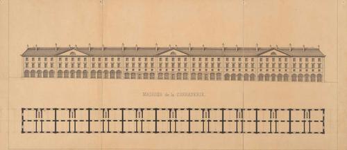Genève, Corraterie (élévation et plan)