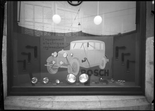 Genève, rue de Lausanne: vitrine Bosch