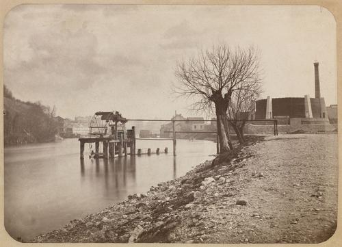Genève, le Rhône: puiserande enlevée en 1881