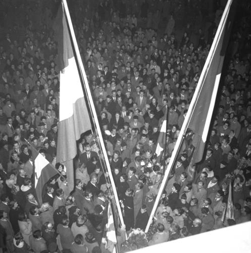 Genève, manifestation en faveur de la Révolution hongroise
