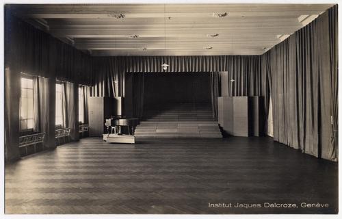 Genève, rue de la Terrassière: institut Jaques-Dalcroze (intérieur)