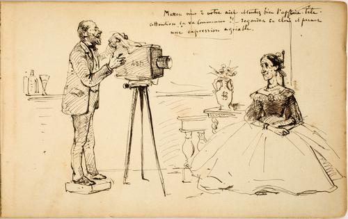 Daguerréotypiste et son modèle