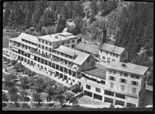 Valais, Montana: sanatorium populaire genevois, reproduction d'une carte postale