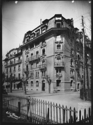 Genève, rue du Grand-Pré: intersection avec la rue Chandieu